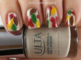 thanksgiving gel nails peace love lacquer thanksgiving nail art challenge day 1 leaves