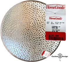 homegoods clearance bowl as diy ceiling fixture cuckoo4design