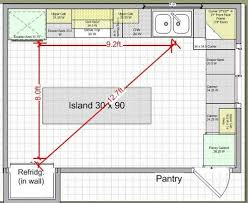 kitchen triangle design with island 10k kitchen remodel island design traffic work triangle
