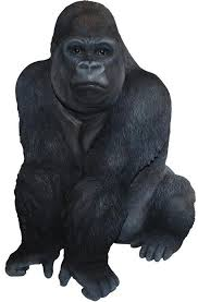 gorilla real resin ornament by arts ornaments