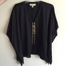 michael kors blouses 60 michael kors tops michael kors black silk blouse with