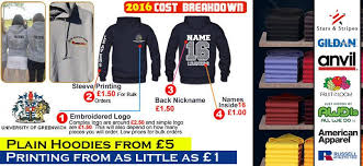 personalised hoodies 6 50 custom printed clothes london uk