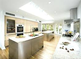 counters double island kitchen designs two tier ideas pictures