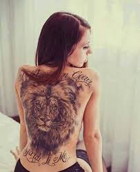 full back lion tattoo for girls goluputtar com
