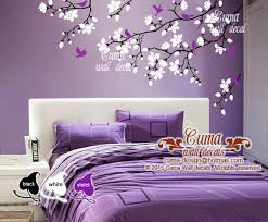 Purple Wall Decals For Nursery Cherry Blossom Wall Decals Violet Nursery By Cuma Wall Decals On