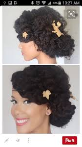 boho style wedding hairstyle for natural african american hair