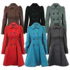 la s coat womens wool look office double breasted italian style