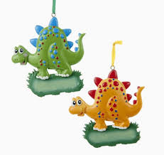 green and orange dinosaur ornaments store