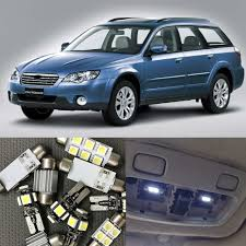 white subaru outback 2017 10pcs white car led light bulbs interior package kit for 2000 2009