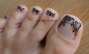 toes art design arabesque embroidery french pedicure cobalt copper