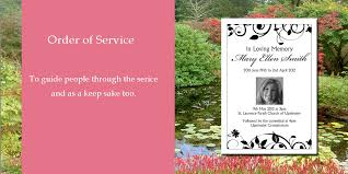 funeral stationery personalised funeral stationery ijc your print on demand