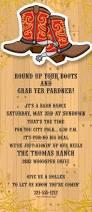 cowboy themed birthday party invitation wording western theme