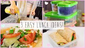 3 healthy easy lunch ideas for work school