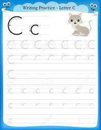 writing practice letter c printable worksheet for preschool
