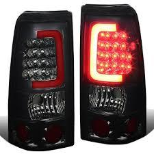 2006 gmc sierra tail lights gmc sierra denali 2002 2006 smoked led tail lights red tube