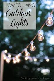 outdoor style how to hang commercial grade string lights patio