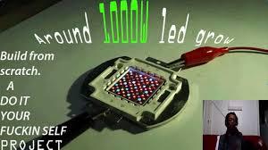 diy cree led grow light 1000w led grow a start of a build diy youtube