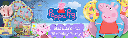 peppa pig birthday peppa pig party supplies decorations birthday in a box