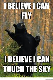 I Believe I Can Fly Meme - i believe i can fly i believe i can touch the sky fabulous bear