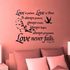 christian home decor wall decal bible scripture 1 corinthians
