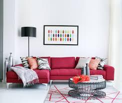 red velvet sofa to be right choice for joy of family room