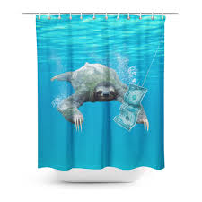 Shower Curtain Nirvana Sloth Shower Curtain Shelfies