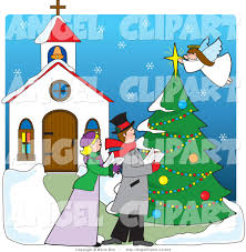 royalty free christmas tree stock angel designs