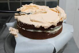 spice cake with orange cream cheese filling and orange swiss