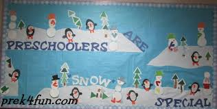 winter preschool bulletin board prek4fun