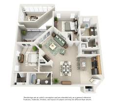Split Two Bedroom Layout 3d House Plan Very Inspiring Everything The Sims Pinterest