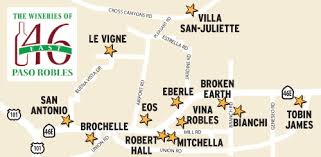 paso robles winery map the wineries of 46 east paso robles wine country this week