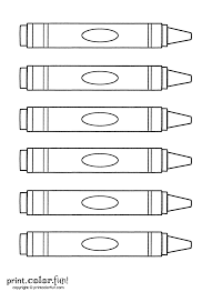 crayons print color fun free printables coloring pages