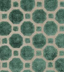 Turquoise Velvet Fabric Upholstery Upholstery Fabric Robert Allen Velvet Geometric Emerald Joann