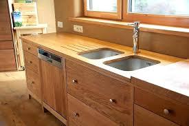 cuisine bois brut meuble cuisine bois massif chataignier huile estives 21 lzzy co