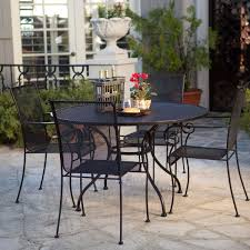 Wrought Iron Patio Dining Set The Sleek Paxton Outdoor Dining Set