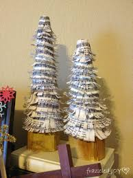 sheet music christmas tree craft frazzled joy