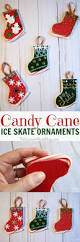 christmas candy cane ice skate ornaments simple christmas crafts