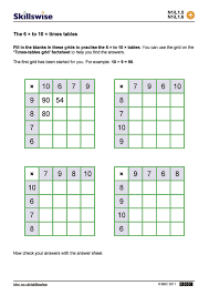the 6 to 10 times tables