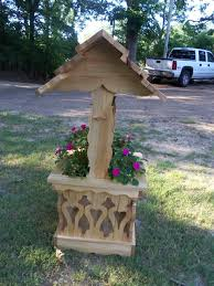 wishing well planters by william lumberjocks com woodworking