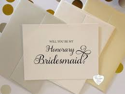 in bridesmaid card will you be my honorary bridesmaid card bridesmaid asking
