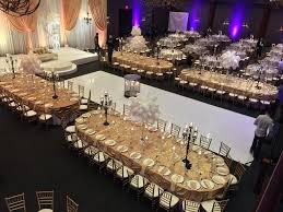 modern muslim wedding reception decor with large table