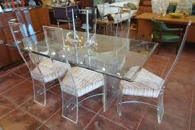 1970 u0027s lucite dining set table with six high back chairs lucite