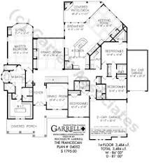 One Floor House Plan Traditional House Plan With 3962 Square Feet And 5 Bedrooms From
