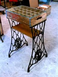 Singer Sewing Machine Desk Laptop Desk Old Seving Machine Idea Glass Or Other Top Needs To