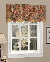 berwick paisley lined layered scalloped valance pretty windows