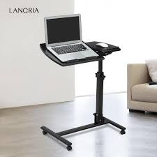 adjustable movable laptop table portable 360 swivel angle height adjustable rolling laptop notebook