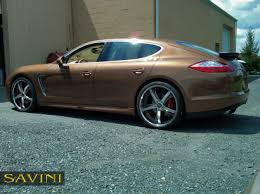porsche panamera brown panamera savini wheels