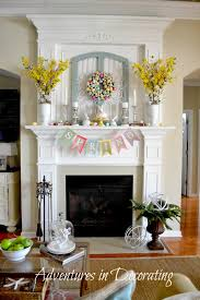 easter mantel decorations pretty easter mantel decorations eighteen25