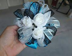 Teal Corsage Royal Blue Garter Corsage Boutonniere Set Prom U0026 Homecoming