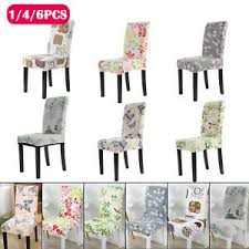 chair seat cover removable elastic stretch slipcovers dining room chair seat